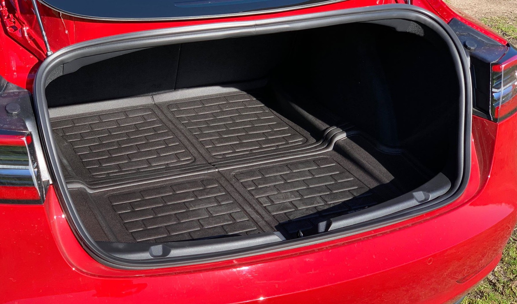 MAXpider All-Weather Frunk & Trunk Floor Liners for Model 3 REAR TRUNK  LINER IN STOCK, FRUNK LINERS ARE SOLD OUT TILL MID TO LATE JULY