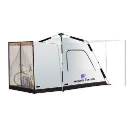"""""""Docking Station"""" Tent with Hands Free Walk-through door and space for your gear.  Sleeps up to 4 adults.  ETA March 2022"""