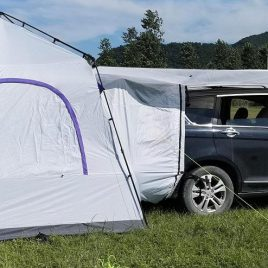 """""""Docking Station"""" Tent Connects to Your Model S"""